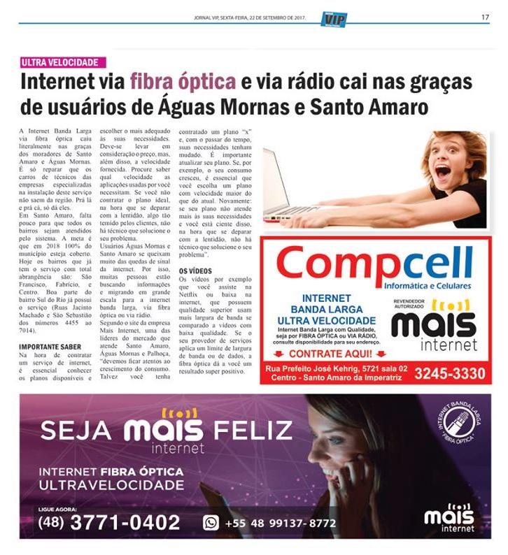 Mais Internet - Jornal Vip - 22.9.17